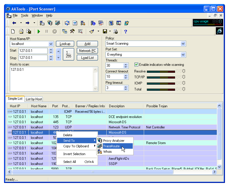 Advanced Administrative Tools Screen shot