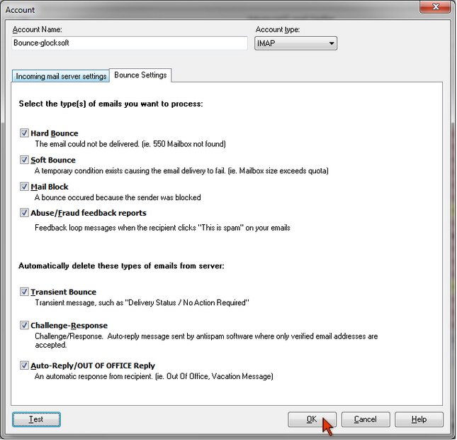 Advanced Email Verifier - bounce settings