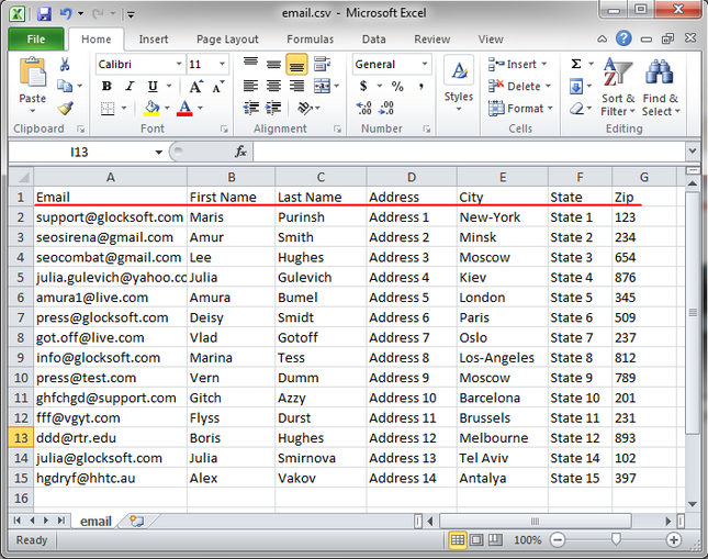 aev csv file Import Multi Column CSV File