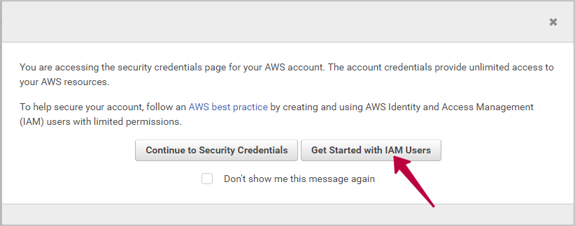 AWS security credentials
