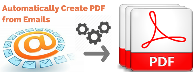 Create PDF from Email