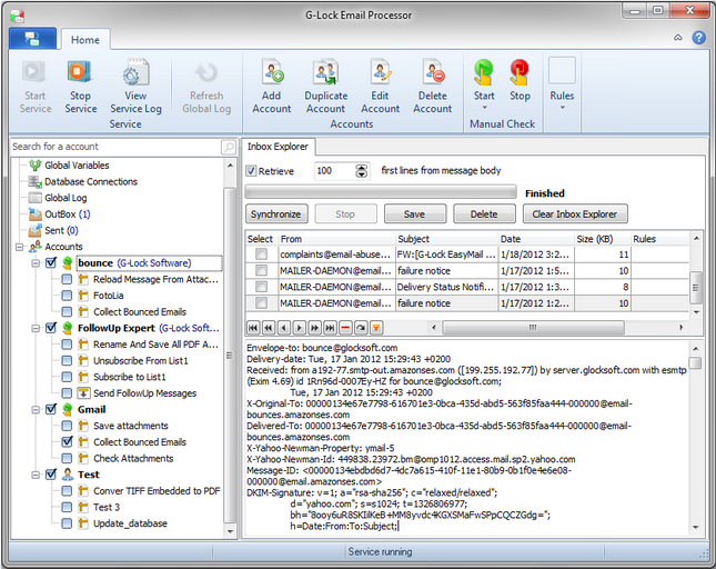 G-Lock Email Processor Inbox Explorer