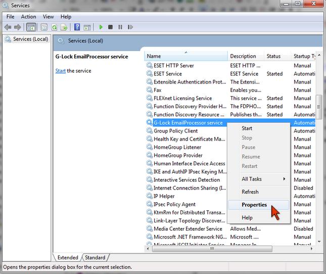 G-Lock Email Processor service