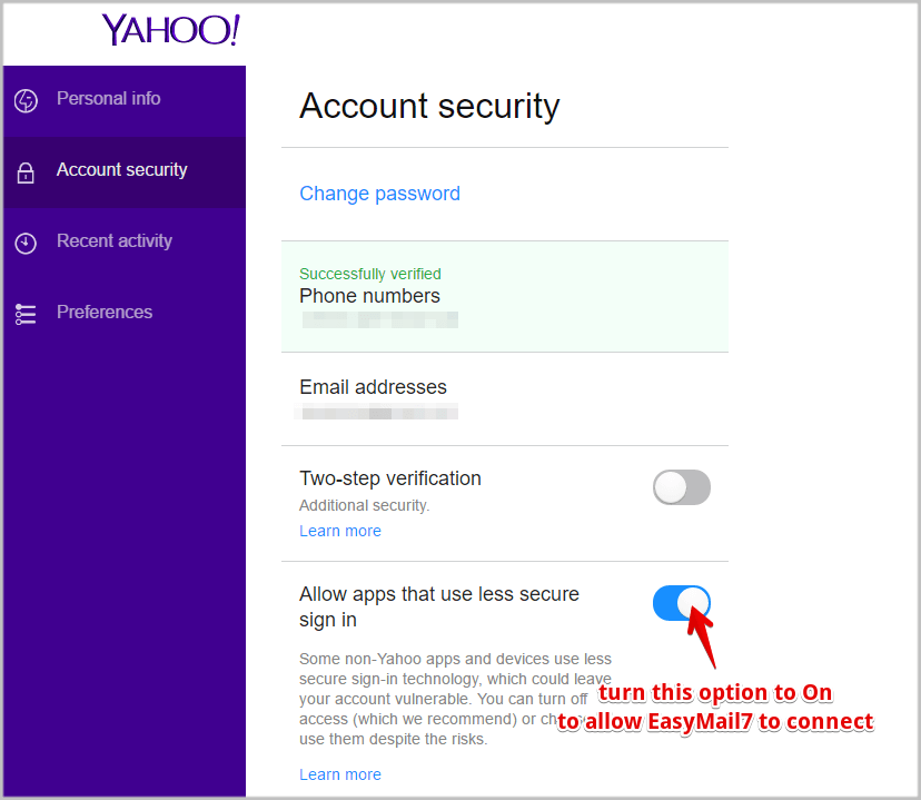 How to Use Yahoo SMTP Settings in EasyMail7